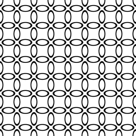 ellipse: Seamless monochrome ellipse pattern wallpaper design vector