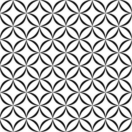 rounded: Seamless monochrome rounded shapes pattern design background