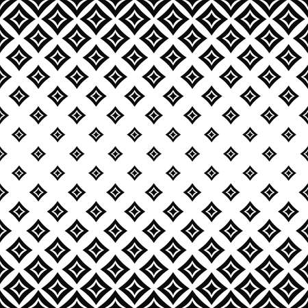 square pattern: Seamless horizontal monochrome angular curved square pattern