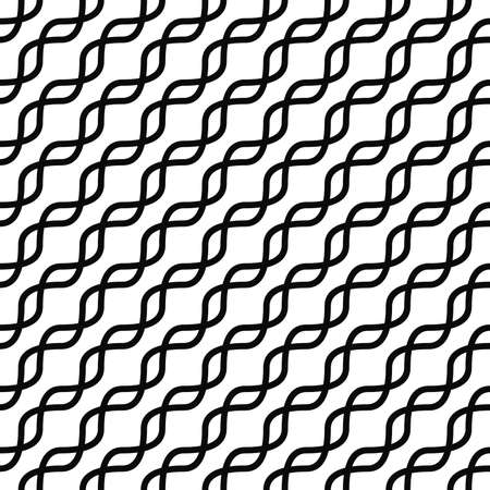 curved line: Monochromatic seamless curved line pattern design background