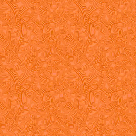 backdrop design: Orange color abstract seamless pattern design background