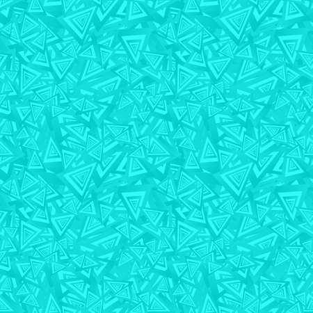 Cyan seamless triangle pattern design vector background