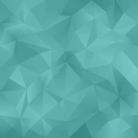 Teal abstract irregular triangle pattern design background