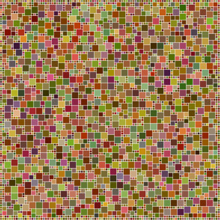 husks: Brown colorful square mosaic design pattern background