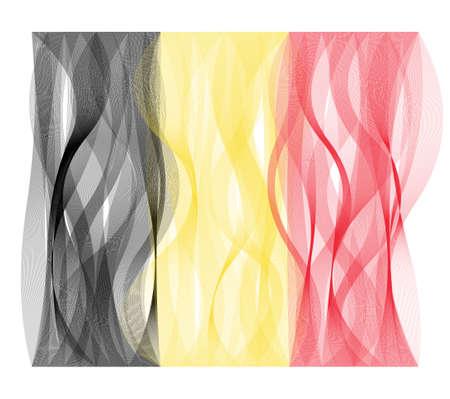 Wave line flag vector design of Belgium