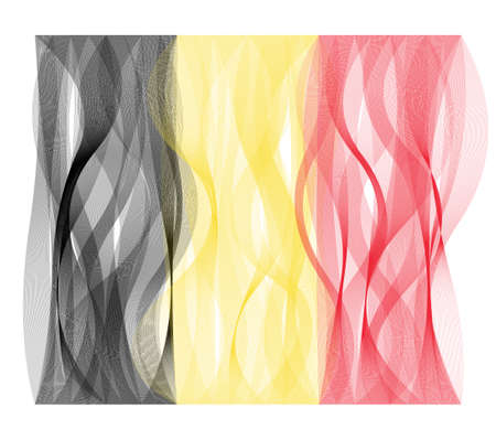 undulating: Wave line flag vector design of Belgium