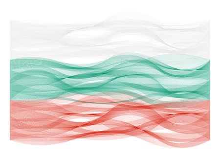 Wave line flag vector design of Bulgaria