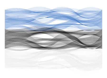 sinus: Wave line flag vector design of Estonia Illustration