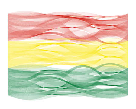 devious: Wave line flag vector design of Bolivia Illustration