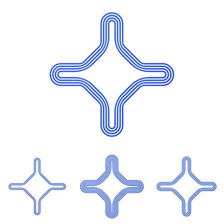 Blaue Linie Corporate Identity Design-Set