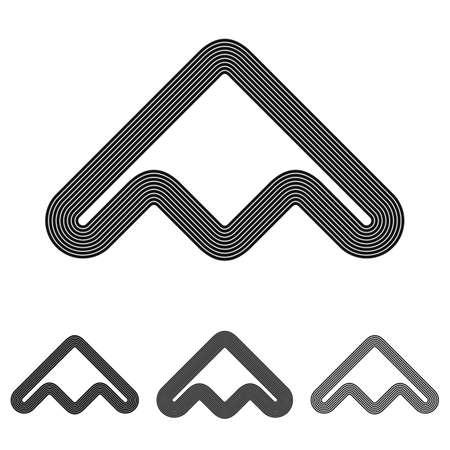 airforce: Black line abstract symbol  design set