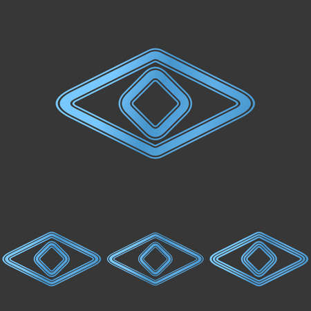 secret identities: Blue stylized line eye  design set Illustration