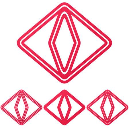 crimson: Crimson line cat eye  design set