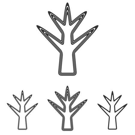 dead tree: Black dead tree symbol  design set Illustration