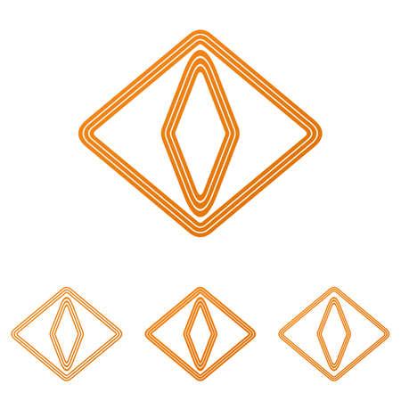 cat eye: Orange line cat eye  design set