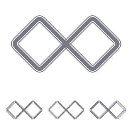 infinite loop: Grey line infinite loop  design set