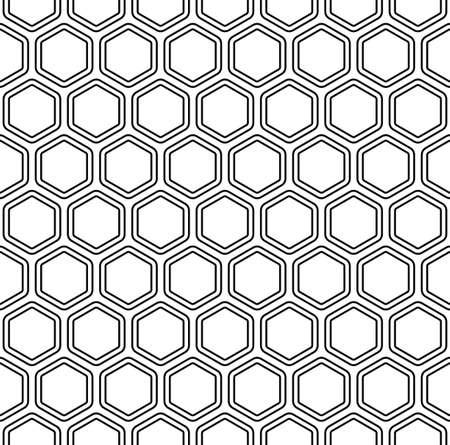 Seamless black and white abstract hexagon pattern background Illusztráció