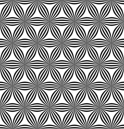 geschwungene linie: Seamless abstract geometric hexagonal curved line pattern