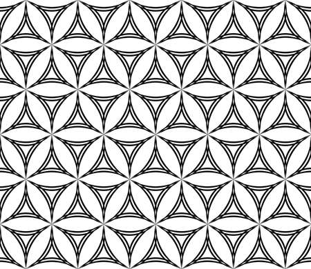 hexa: Seamless abstract geometric hexagonal curved triangle pattern Illustration