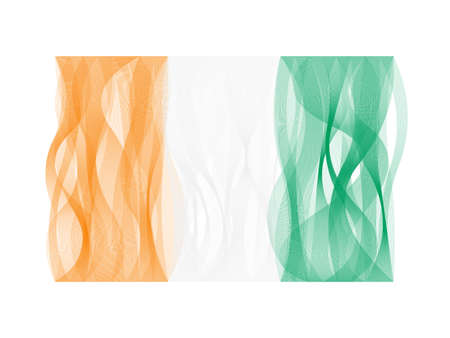 undulating: Vector design wave line flag of Ivory Coast