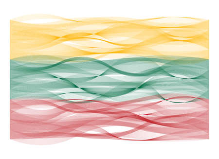 devious: Vector design wave line flag of Lithuania Illustration