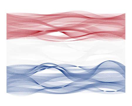 devious: Wave design line flag of the Netherlands Illustration