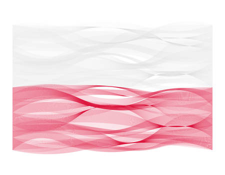 undulating: Wave line design vector flag of Poland