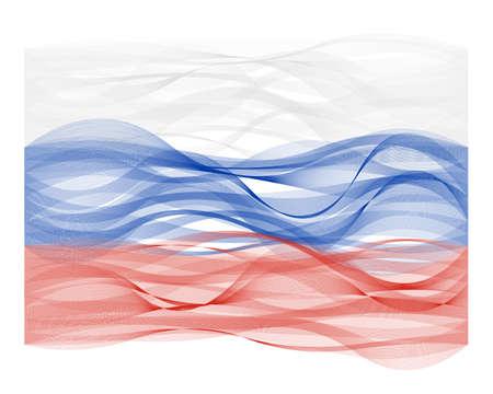 Vector design golflijn vlag van Rusland