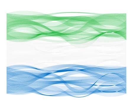 Vector design wave line flag of Sierra Leone Illustration