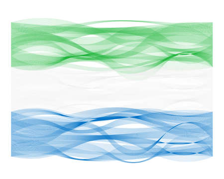 undulating: Vector design wave line flag of Sierra Leone Illustration