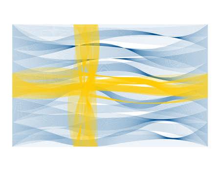 sinus: Vector design wave line flag of Sweden Illustration