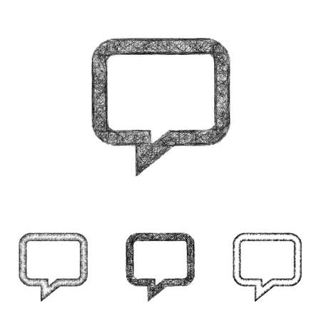 chat icon: Chat icon design set - sketch line art