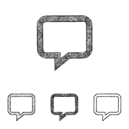 Chat jeu de conception d'icône - art ligne d'esquisse Vecteurs
