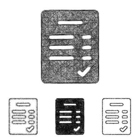 verified: Verified icon design set - sketch line art Illustration