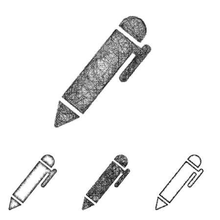 pen icon: Pen icon design set - sketch line art