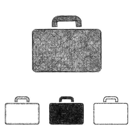 briefcase icon: Briefcase icon design set - sketch line art