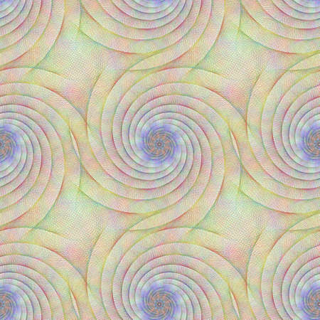 geschwungene linie: Colorful repeating fractal curved line pattern design Illustration
