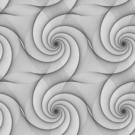 spiral pattern: Seamless abstract black and white spiral pattern design Illustration