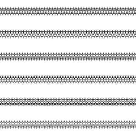 decorative pattern: Ornamental page, text divider line design set