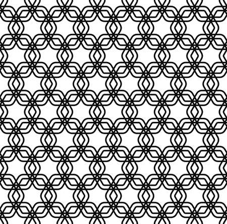 grid pattern: Repeating black and white grid pattern background Illustration