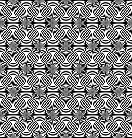 curved line: Seamless abstract geometric hexagonal curved line pattern