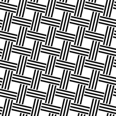 ruling: Seamless black and white woven line pattern design