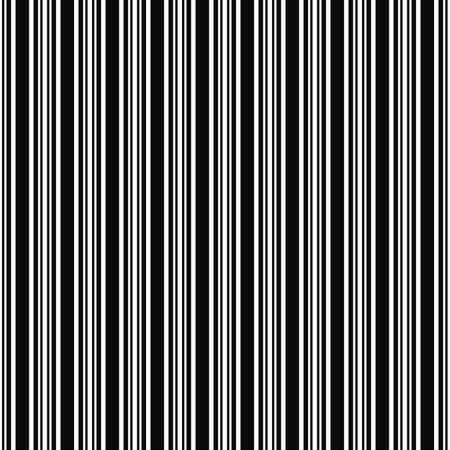 ruling: Seamless black and white barcode pattern background Illustration