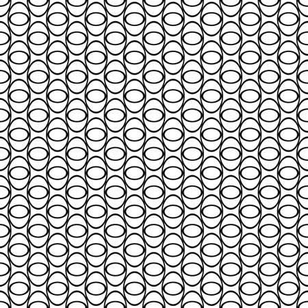 elipse: patrón de cuadrícula elipse sin fisuras en blanco y negro