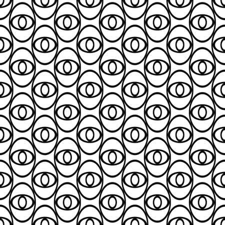 elipse: Monocromo elipse diseño abstracto patrón de repetición ojo