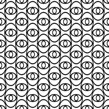elipse: Monocromo elipse dise�o abstracto patr�n de repetici�n ojo