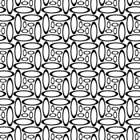 ellipse: Monochrome abstract repeating ellipse pattern design background Illustration