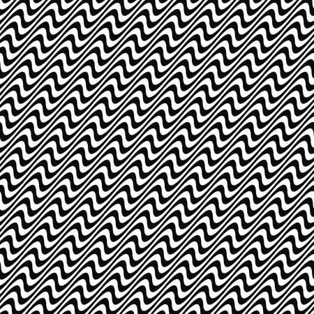 angular: Black and white seamless angular wave pattern Illustration