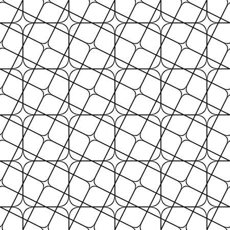 angular: Seamless abstract monochrome angular curved grid pattern Illustration