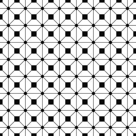 grid pattern: Seamless monochrome grid pattern with square joints